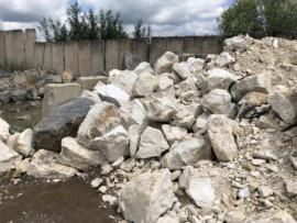 Piatră brută albă